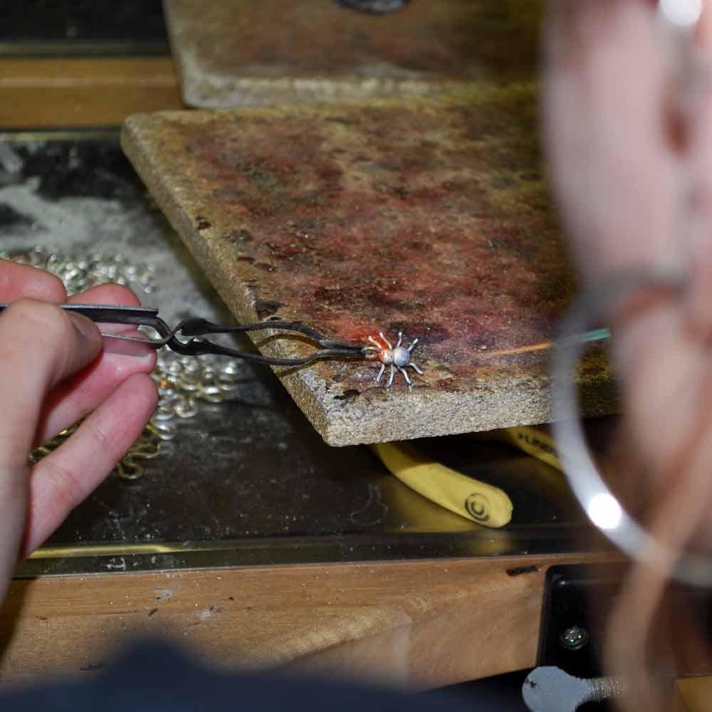 SPINDEL örhängen på krok-1562