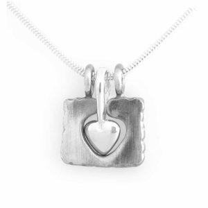 """""""Embrace my Heart"""" sterling silver necklace, handcrafted by GULDVIVA. Håll Om Mitt Hjärta silverhalsband, handgjorda av GULDVIVA."""