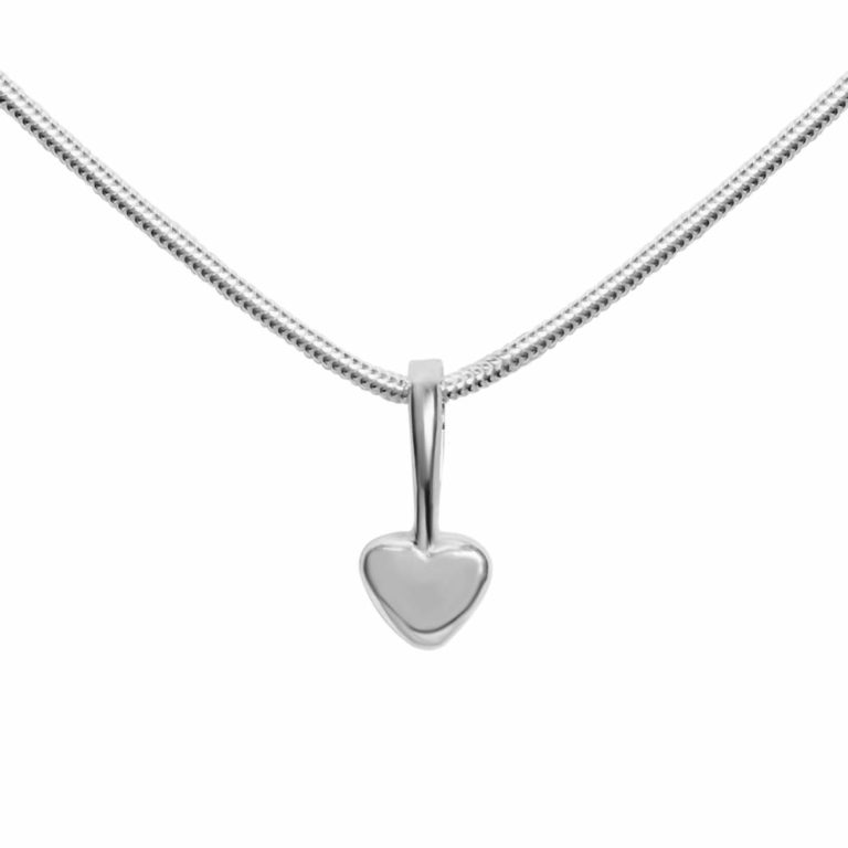 """My Heart"" sterling silver necklace, handcrafted by GULDVIVA."