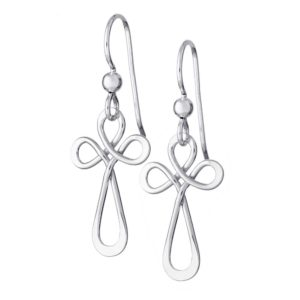 Sirligt Kors sterling silver earrings, handcrafted by GULDVIVA.