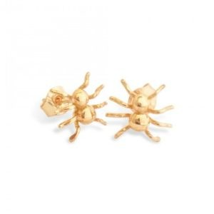 Spider earstuds in 18K gold, handcrafted by GULDVIVA