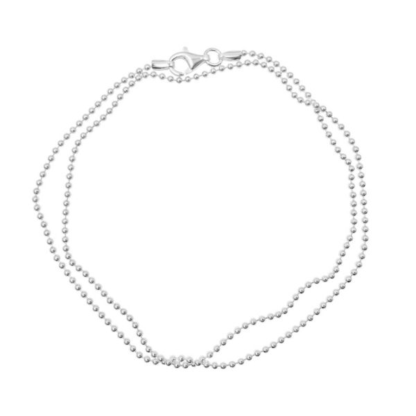 Ball chain in sterling silver. Available from GULDVIVA.