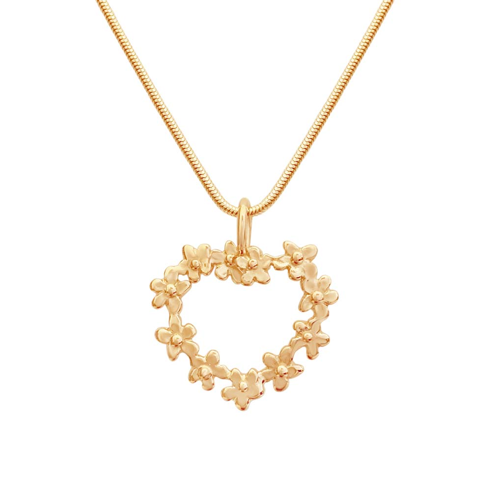 Forget me not pendant in 18K gold. Handcrafted by GULDVIVA.