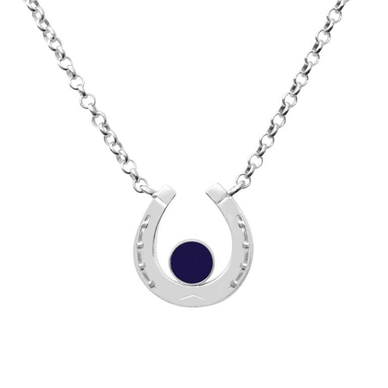 Hästsko Spektrolit halsband, Hastsko Spectrolite necklace