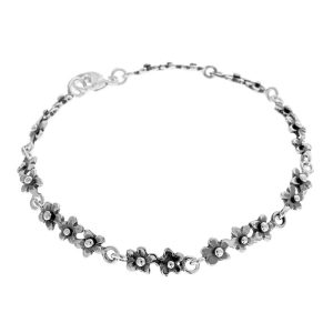 Forget me not silver bracelet, handcrafted by GULDVIVA
