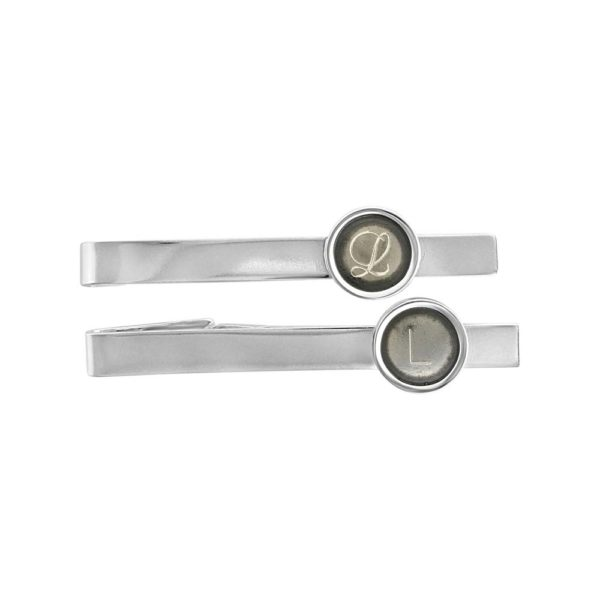 "Tie Clip ""Beta"" in oxidized sterling silver, handcrafted by GULDVIVA"